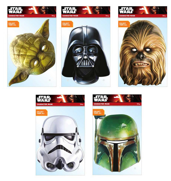 Star Wars Classic Variety Card Mask 5 Pack