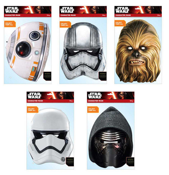 Star Wars Force Awakens Variety Card Mask 5 Pack