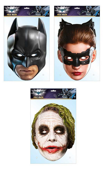 Batman Official 2D Card Face Masks Variety 3 Pack