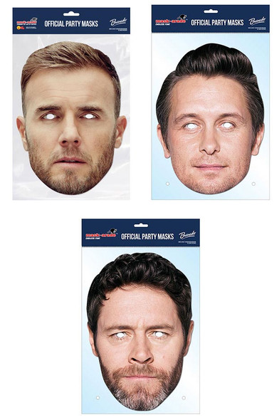 Take That Official 2D Card Party Face Masks Variety 3 Pack