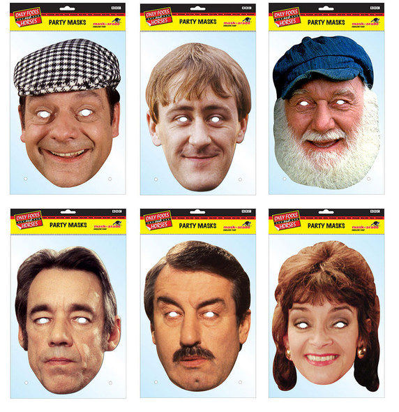Only Fools & Horses Set of 6 Card Party Face Masks