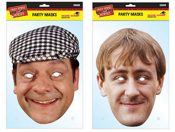 Del & Rodney Only Fools & Horses Card Party Face Masks
