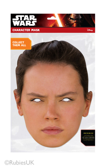 Rey Force Awakens Card Face Mask