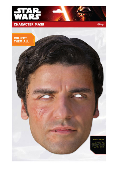 Poe Dameron Force Awakens Card Mask