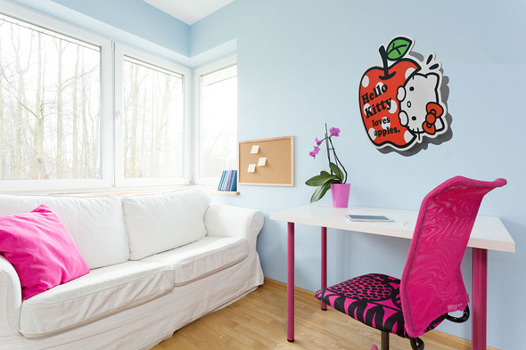 Hello Kitty Wall Art mounted example
