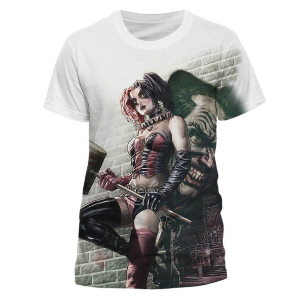 Batman Harley Quinn Wall Art Sublimation Official T-Shirt