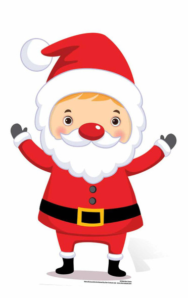 Mini Santa Christmas Theme Cardboard Cutout