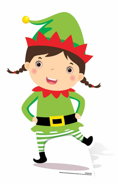 Mini Christmas Elf Cardboard Cutout