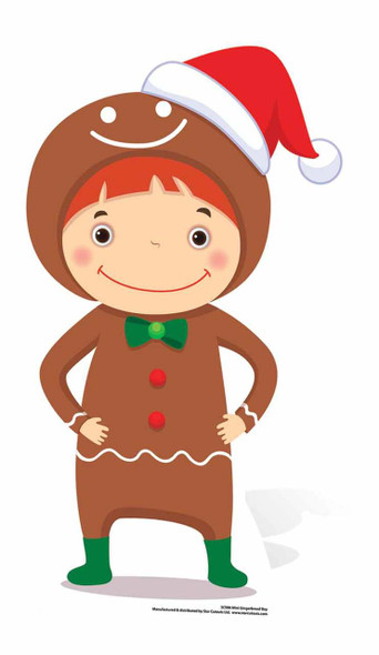 Mini Gingerbread Boy Cardboard Cutout