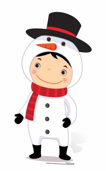 Mini Snowman Cardboard Cutout