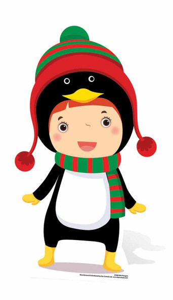 Mini Penguin Christmas Cardboard Cutout