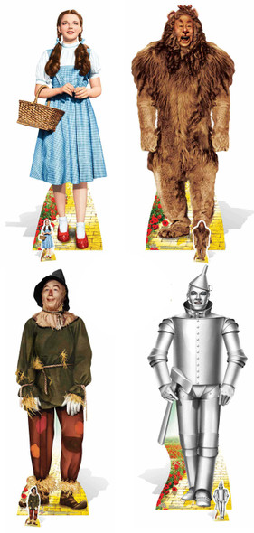 Wizard of Oz Set of 4 Cardboard Cutouts