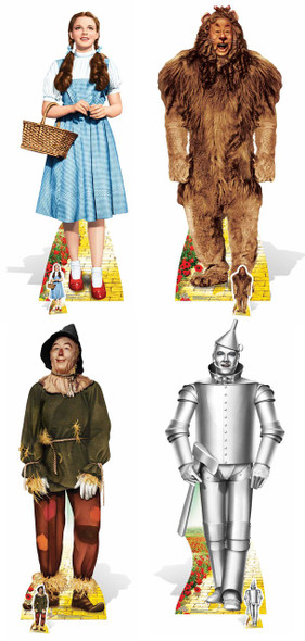 Wizard of Oz Set of 4 Cardboard Standups