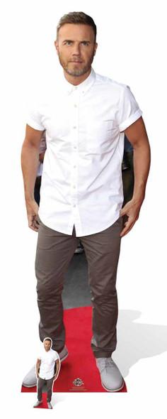Gary Barlow White Shirt  Cardboard Cutout