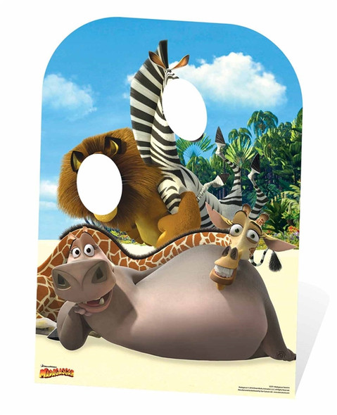 Madagascar Child Size Cardboard Cutout Stand In