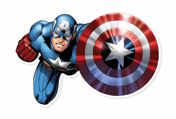 Captain America Shield Bash Wall Art 3D Effect Official Marvel Cardboard Cutout Wall Art