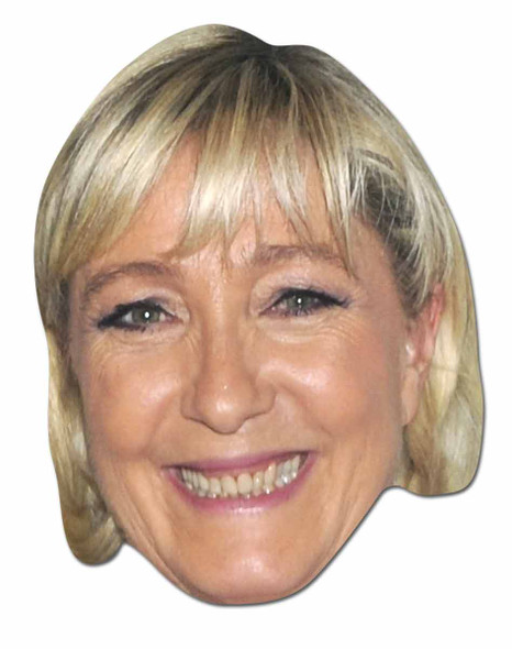 Marine Le Pen French Politician 2D Face Mask