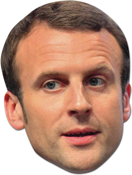 Emmanuel Macron French Politician 2D Face Mask