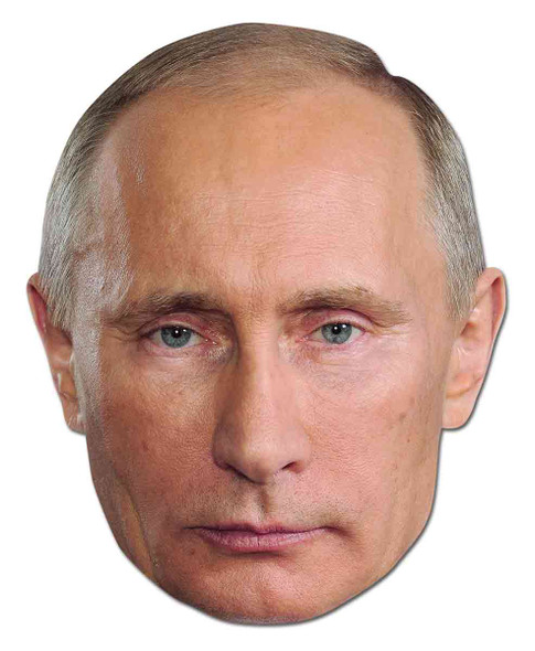 Vladimir Putin Russian President Celebrity Card Party Face Mask