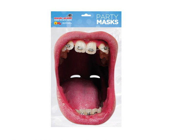 Big Mouth Braces Single 2D Card Party Face Mask