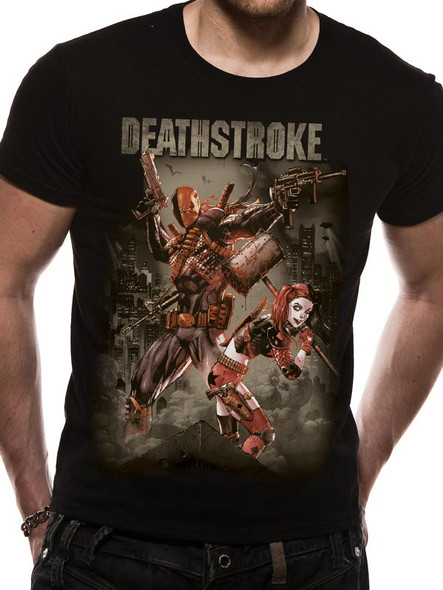 Deathstroke Justice League Official DC Comics Unisex Black T-Shirt
