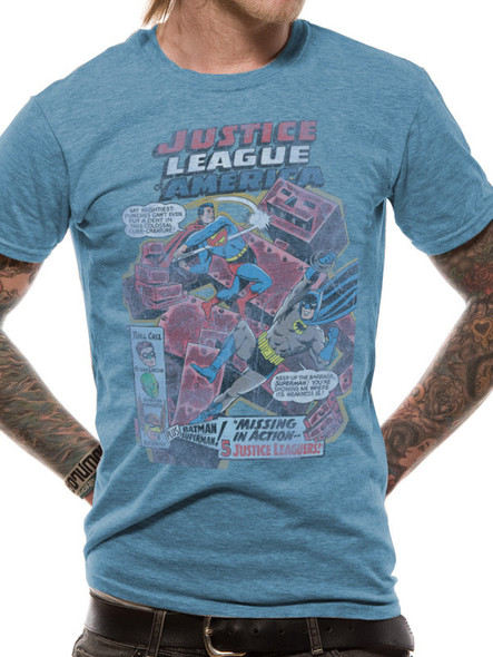 Batman and Superman Justice League DC Comics Official Unisex T-Shirt