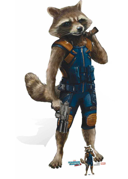 Rocket Raccoon Guardians of The Galaxy Vol. 2 Mini Cardboard Cutout