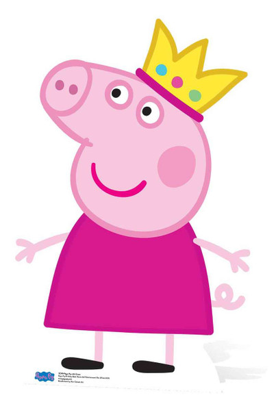 Princess Peppa Pig Cardboard Cutout