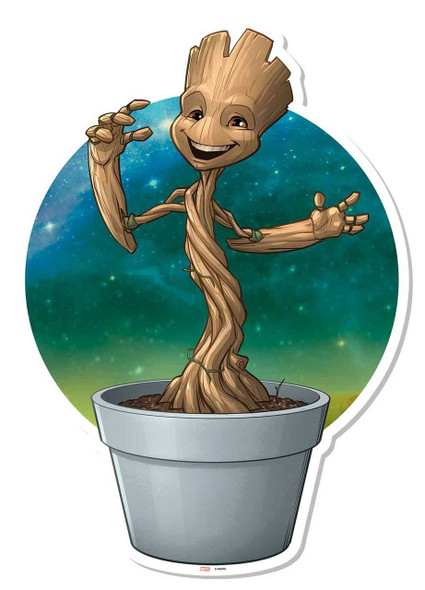Baby Groot Plant Pot Wall Art Cardboard Cutout