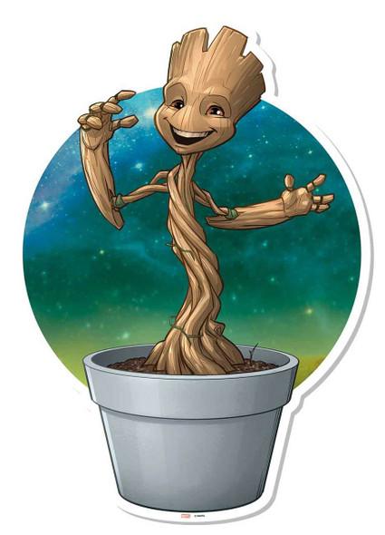 Baby Groot Plant Pot Wall Art Cardboard Cutout