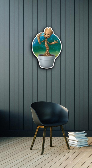 Baby Groot wall art example in situ