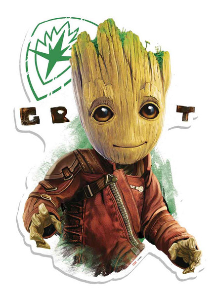 "Baby Groot ""oo"" Eyes Guardians of The Galaxy Vol. 2 Cardboard Cutout Wall Art"