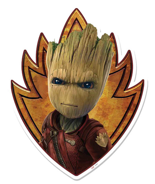 Baby Groot Emblem Guardians of The Galaxy Vol. 2 Cardboard Cutout Wall Art