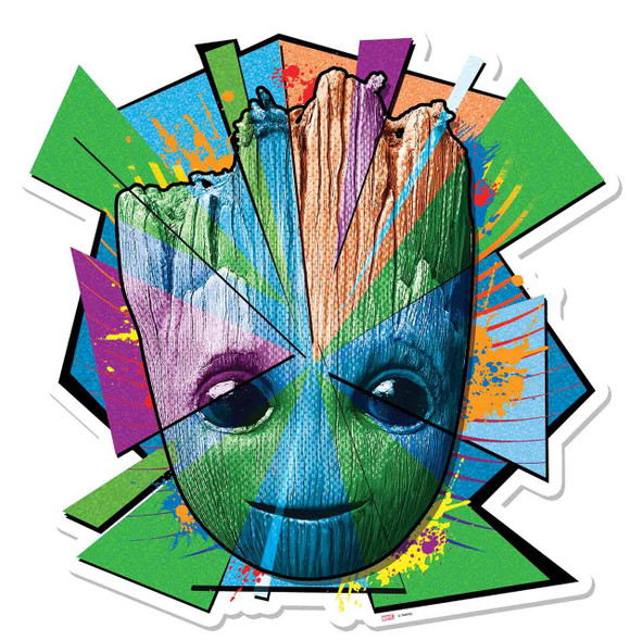 Baby Groot Mosaic Guardians of The Galaxy Vol. 2 Cardboard Cutout Wall Art