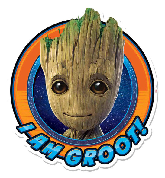 I Am Groot Guardians of The Galaxy Vol. 2 3D Effect Cardboard Cutout Wall Art