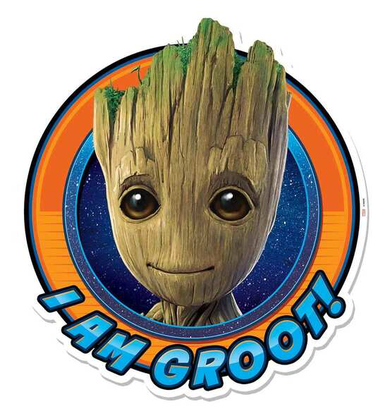 I Am Groot Guardians of The Galaxy Vol. 2 3D Effect Cardboard Cutout Wall Art