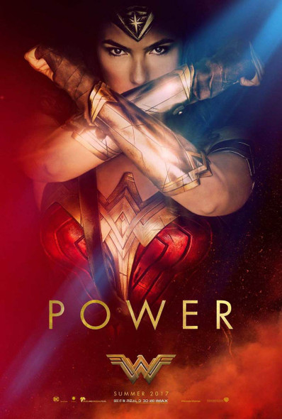 Wonder Woman Original Movie Poster – Power Gauntlets Style C