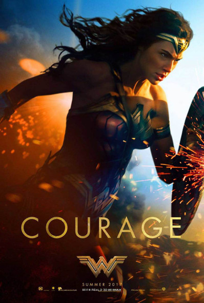 Wonder Woman Original Movie Poster – Courage Shield Style D