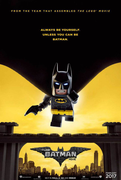 Lego Batman Original Movie Poster – Cape Advance Style
