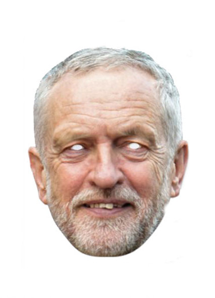 Jeremy Corbyn Card Party Face Mask