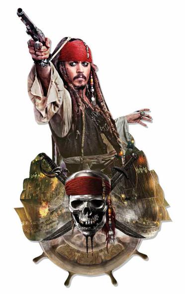 Jack Sparrow Pirates of the Caribbean 3D Effect Cardboard Cutout Wall Art