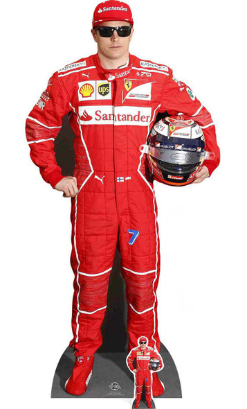 Kimi Raikkonen with Mini Formula One Racing Driver Cardboard Cutout / Standee