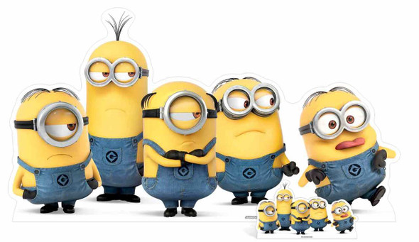 Mischievous Minions Group Pose Cardboard Cutout / Standee / Stand up