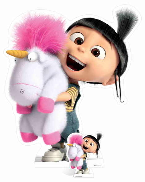 Agnes and  Fluffy Unicorn Despicable Me 3 Cardboard Cutout / Standee / Stand up