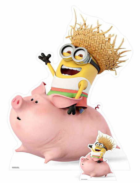 Dave Minion Riding a Pig Cardboard Cutout / Standee / Stand up