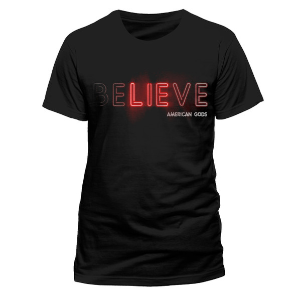 American Gods Believe Official Black Unisex T-Shirt