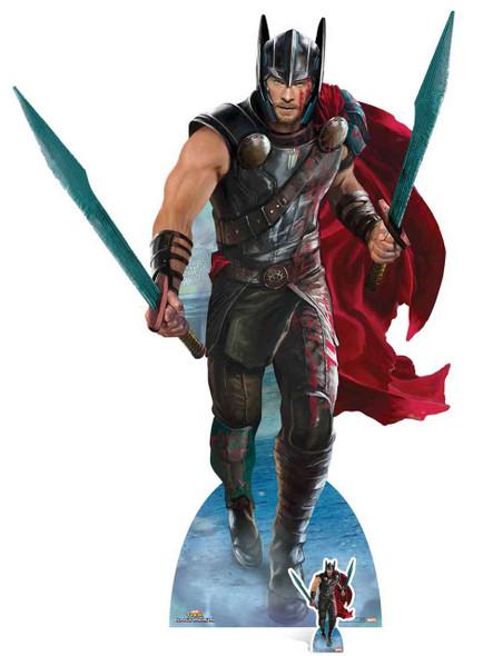Thor from Thor: Ragnarok Official Marvel Lifesize Cardboard Cutout