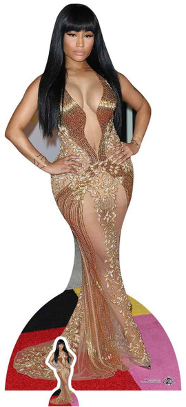 Nicki Minaj Gold Dress Lifesize Cardboard Cutout