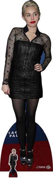 Miley Cyrus Black Dress Cardboard Cutout