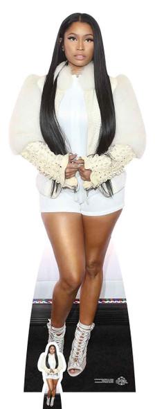 Nicki Minaj White Fur Jacket Lifesize Cardboard Cutout